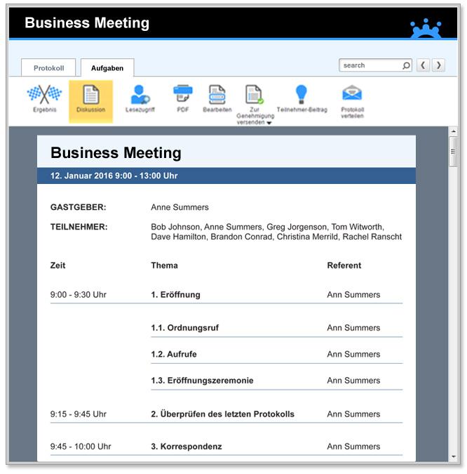 Business Meeting-Agenda