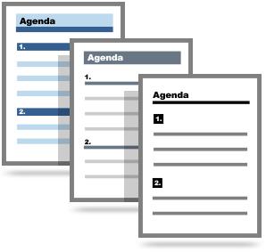 Create an Agenda Template