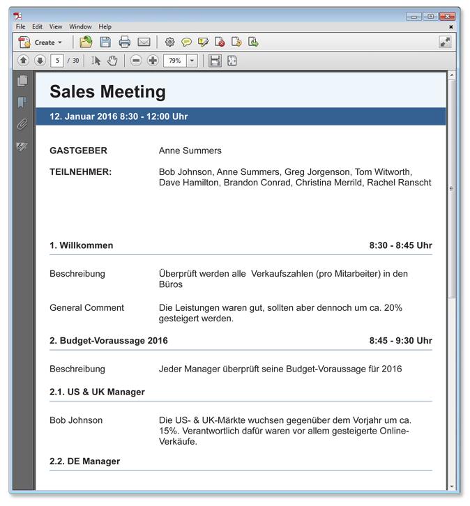 meeting-protokolle, Einladung