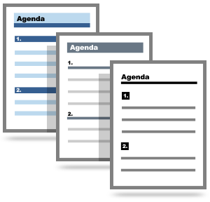 1Meeting Agenda Templates  Creating An Agenda Template